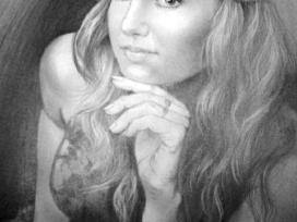 Merginos portretas/grafitas/A3 formatas.