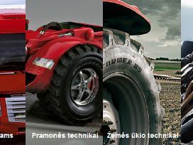 Sunkvežimių, žemės/miško ūkio,industrinės padangos