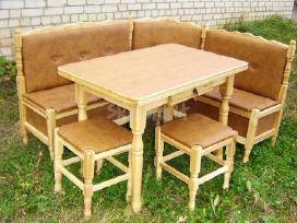 Virtuvinis (virtuvės) kampas stalas taburetės
