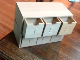 Dekoravimui dėžutė arbatai