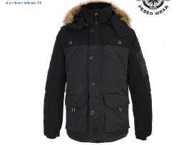Šilta striukė su gobtuvu Pesso Bergen, juoda