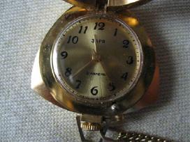 CCP Mot. paauksuotas laikrodukas su grandinele