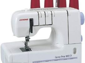 Plokščiasiūlė Janome 1000CP siuvimo.