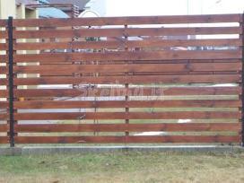 Medinės tvoros vartai gamyba ir montavimas