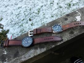 Laikrodžių apyrankės (rankų darbo odinės apyrankės