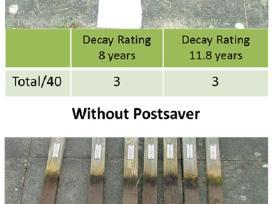 Medinių tvoros kuolų apsauga nuo puvimo Postsaver