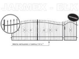 Tvoros vartai varteliai stulpialiai groteliai.
