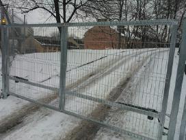 Stumdomų, varstomų kiemo vartų gamyba