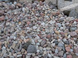 Akmenys, juodžemis, žvyras, smėlis. Kasimo darbai