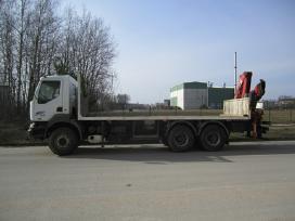 Sunkvežimio su kranu paslaugos - fiskaras