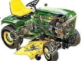 Visu markiu sodo traktoriuku remontas