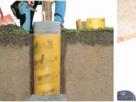 Tūtos - vamzdžiai-kolonos poliųatramų betonavimui