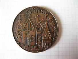 Stalo medalis..zr. foto..sunkaus metalo..autor