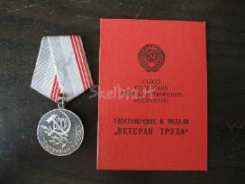 Cccp medalis su dokumentu... zr. foto. nr 13