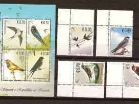 """Parduodu Kosovo pašto ženklus tema """"fauna """""""