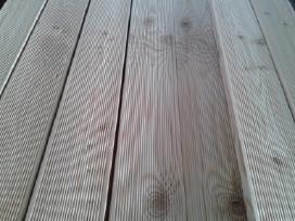 Maumedžio terasinės lentos, rifliuotos