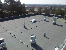 Plokščiųjų stogų dengimas