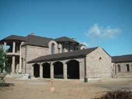 Karkasinių namų statyba.