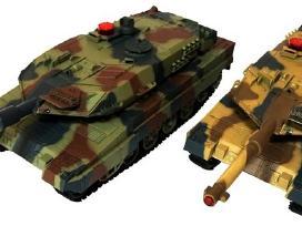 Naujas Tiger + Abrams tankų komplektas 27+40mhz