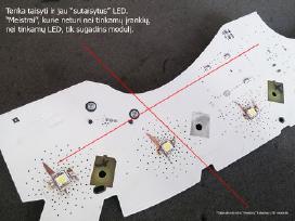 Apgadintas LED modulis neišmanėlio