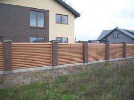 Vartai medinės metalinės tvoros tvorų pamatas