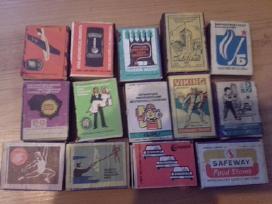 Senos degtukų dėžutės.
