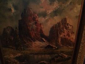 Parduodu žinomo dailininko paveikslą kaina 200 eur