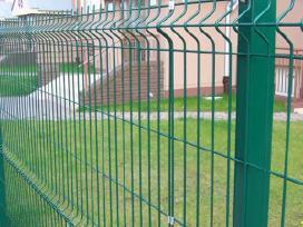 Segmentinės tinklinės medinės tvoros vartai!