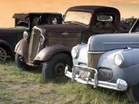 Perku senovinius motociklus, automobilius.