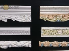 Interjero dekoras. Dekoravimo profiliai. Liejiniai