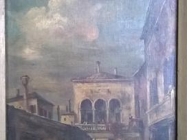 Senas nežinomo dailininko paveikslas ant drobės