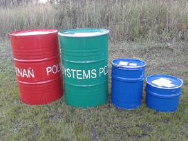 Metalinės statinės bačkos plastikiniai kanistrai