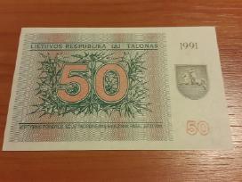 50 talonų briedis 1991 m.unc ( su ir be užrašo)