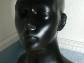 Manekenas kepurei, vyro galva, moters galva