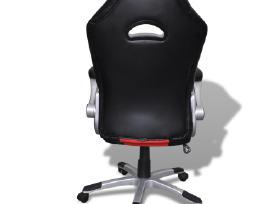 Modernaus Dizaino, Dirbtinės Odos Biuro Kėdė, Raud
