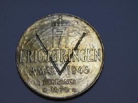 Jubiliejine Antikvarine Moneta Norway 25kroner1970