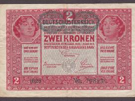 Austria 1917 Kupiura 2 Kronen N31+*