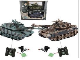 Tiger ir Abroms tankai su nuotoliniu pultu
