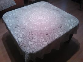 Apvali lininė staltiesė 120cm,50eurų.