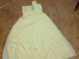 Geltona ilga suknele