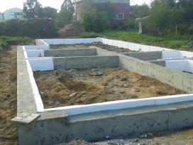 Pamatai ir kiti betonavimo darbai.