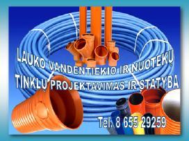 Lauko vandentiekio ir nuotekų tinklų statyba