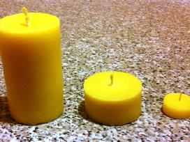 Natūralaus bičių vaško žvakės