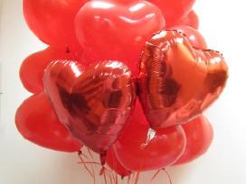 Helio balionai valentino dienai