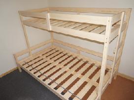 Pušinės dvigulės lovos