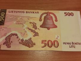 500 litų 2000 m. Unc.serija Aa