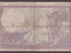 Prancuzija 1933m. banknota 5 Francs N114+*
