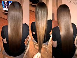 Ilgalaikis plaukų tiesinimas su Cocochoco keratinu