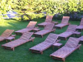Mediniai gultai šezlongai krėslai namams - verslui