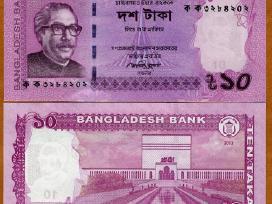 Bangladešas 10 taka 2014m. Unc